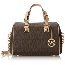 Michael Kors Signature Print Satchel Handbag Bag