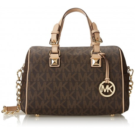 f9f18d7dab2f Michael Kors Signature Print Satchel Handbag Bag - Cheap Product