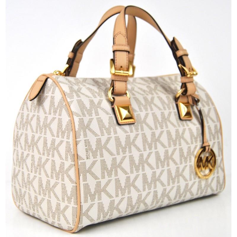 Bolsa Michael Kors Grayson Medium : Michael kors grayson medium satchel vanilla pvc cheap