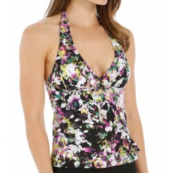 Assets by Sara Blakely Glamour Ruffle Tankini Swim Top